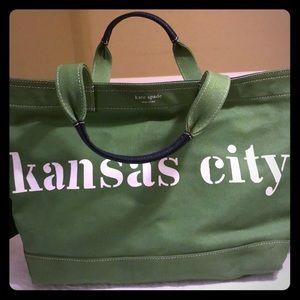 Never used Kate Spade Kansas City canvas tote bag